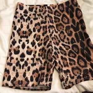 Pants - New woman's cheetah biker shorts high waisted